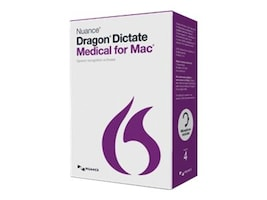 Nuance Corp. Dragon Dictate 4.0 Medical for Mac, T301A-G00-4.0, 23408412, Software - Voice Recognition