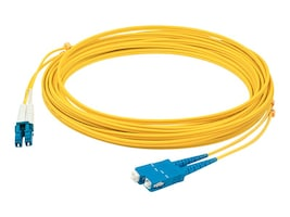 Add On LC-SC 9 125 OS1 Singlemode LSZH Simplex Fiber Cable, Yellow, 2m, ADD-SC-LC-2MS9SMF, 32067251, Cables