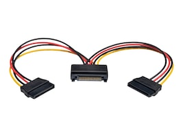 Tripp Lite 15-Pin Serial ATA M F Power Y Splitter Cable, 6in, P947-06N-2P15, 18129751, Cables