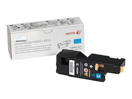 Xerox Cyan Standard Capacity Toner Cartridge for Phaser 6000 & 6010, 106R01627, 12487629, Toner and Imaging Components