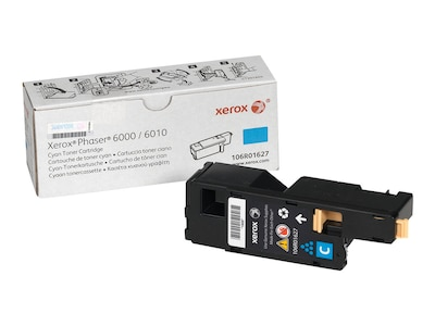 Xerox Cyan Standard Capacity Toner Cartridge for Phaser 6000 & 6010, 106R01627, 12487629, Toner and Imaging Components - OEM