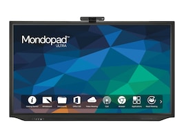 InFocus 75 Mondopad Ultra 4K Ultra HD LED-LCD Touchscreen Display with Webcam, Black, INF75MU01, 36131871, Monitors - Large Format - Touchscreen/POS