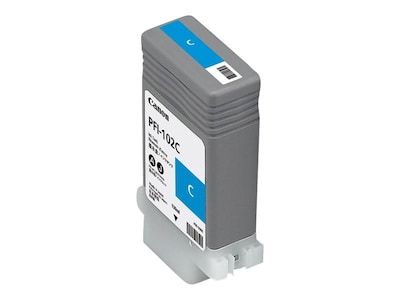 Canon Cyan PFI-102C Ink Tank for imagePrograf 500, 600 & 700, 0896B001AA, 7022413, Ink Cartridges & Ink Refill Kits - OEM