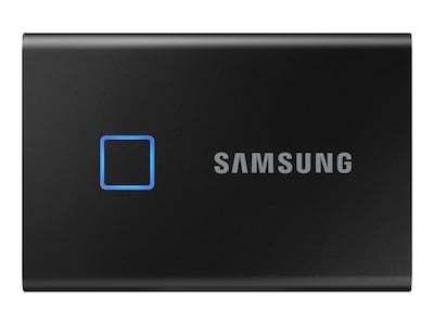 Samsung 1TB T7 Touch USB 3.2 Portable Solid State Drive - Black, MU-PC1T0K/WW, 38005851, Solid State Drives - External