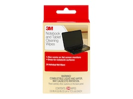 3M LCD & Notebook Screen Cleaning Wipes, 24-pack, CL630, 4818707, Cleaning Supplies
