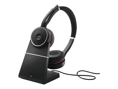 Jabra Evolve 75 Headset - MS w  Charging Base, 7599-832-199, 34076097, Headsets (w/ microphone)