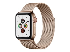 Apple Watch Series 5 GPS+Cellular, 44mm Stainless Steel Case with Gold Milanese Loop, MWW62LL/A, 37523737, Wearable Technology - Apple Watch Series 4-5