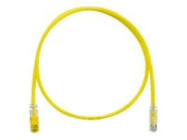 Panduit CAT6 UTP TX6 PLUS Keyed Plug to Non-Keyed Plug Patch Cable, Yellow, 7ft, UTPKSP7YL, 35426010, Cables