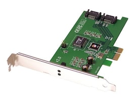 Siig SATA II PCI Express RoHS Comp Controller 2-Port PCI Express x1 Card, SC-SAE012-S2, 6872053, Storage Controllers