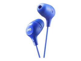 JVC Marshmallow Wired Earbuds - Blue, HAFX38A, 34040924, Earphones