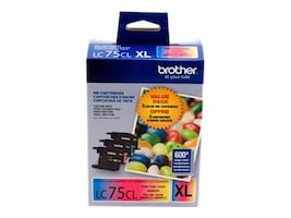 Brother Cyan, Yellow &  Magenta Innobella High Yield XL Ink Cartridges for MFC-J6510DW MFC-J6710DW (3-pack), LC753PKS, 12358616, Ink Cartridges & Ink Refill Kits - OEM