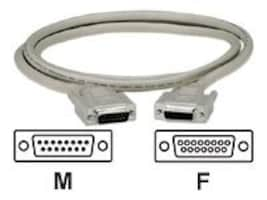 Black Box DB15 M F Thumbscrew Cable, Gray, 25ft, EGM16T-0025-MF, 33000912, Cables