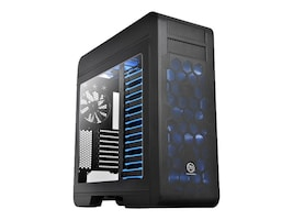 Thermaltake Chassis, Core V71 Full Tower 8x3.5 Bays 2x5.25 Bays 8xSlots No PSU, Black, CA-1B6-00F1WN-00, 16976497, Cases - Systems/Servers