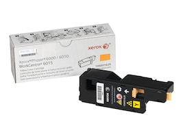 Xerox Yellow Standard Capacity Toner Cartridge for Phaser 6000 & 6010, 106R01629, 12487645, Toner and Imaging Components