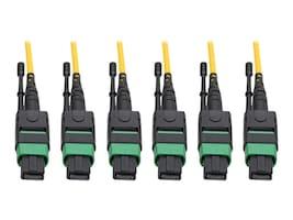 Tripp Lite 24-Strand 40 100 GbE 40 100GBASE-PLR4 MTP MPO Singlemode Slim Plenum Fiber Trunk Cable, Yellow, 61m, N392-61M-3X8-AP, 34709288, Cables
