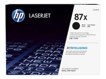 HP 87X (CF287X) High Yield Black Original LaserJet Cartridge w  JetIntelligence for HP LaserJet M506, CF287X, 30673513, Toner and Imaging Components