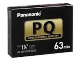 Panasonic 63min. Professional Mini-DV Cassette, AYDVM63PQUS, 15764716, Video Tape Media