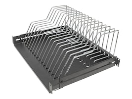 Manhattan 19 Tablet or Accessory Rackmount Shelf with 17 Removable Metal Dividers, 714761, 36202721, Rack Mount Accessories