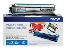 Brother Cyan TN210C Toner Cartridge, TN210C, 10344595, Toner and Imaging Components