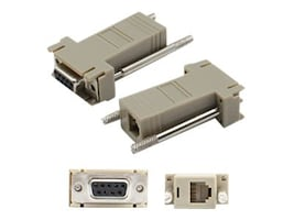 Add On DB-9 to RJ-12 F M Adapter, Gray, DB9F2RJ12M, 33610227, Adapters & Port Converters