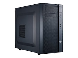 Cooler Master Chassis, N200 Mini Tower mATX Mini-ITX 3x3.5 Bays 4x2.5 Bays, Black, NSE-200A-KKR500, 15986360, Cases - Systems/Servers