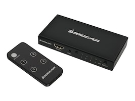IOGEAR 4Port4K HDMI Switch and Remote, GHDSW4K4, 18482520, Switch Boxes - AV