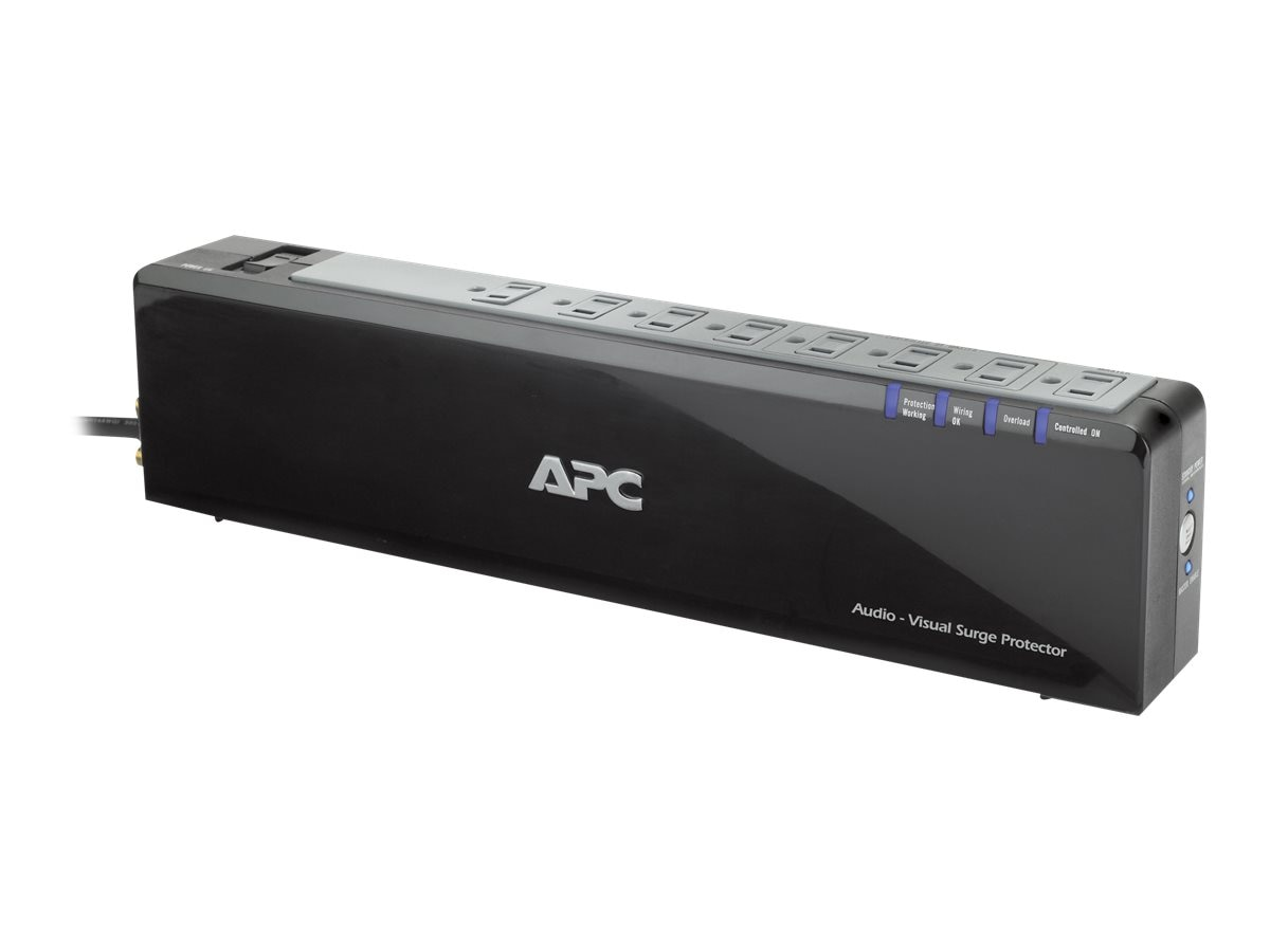 APC Premium Audio Video Power-Saving Surge Protector 120V 2690 Joules, 8-outlet, P8VNTG, 9849684, Surge Suppressors
