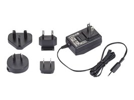Black Box 90-240VAC Wall Mount Power Supply, PS1002-R2, 34196005, AC Power Adapters (external)