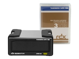 Overland Tandberg RDX USB 3+ External Drive Kit w  3TB Cartridge - Black, 8881-RDX, 37890211, Removable Drives