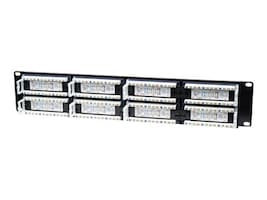 Intellinet 48-Port CAT5E Black Patch Panel ACCS48 Port UTP 2U, 513579, 16213537, Patch Panels