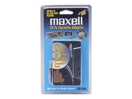 Maxell CD to Cassette Car Adapter - White, 190038, 33212481, Stereo Components