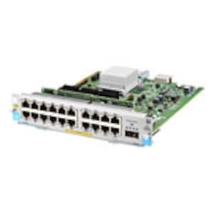 Scratch & Dent HPE Gigabit Ethernet PoE+ Plug-in Expansion Module 20xGbE PoE+ 1x40GbE QSFP+, J9992A, 36243426, Network Switches