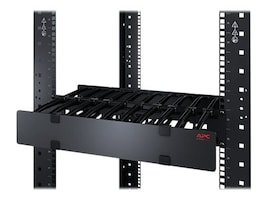 APC Horizontal Cable Manager, 2U x 4 Deep, Single-Sided w  Cover, AR8600A, 16494367, Rack Cable Management