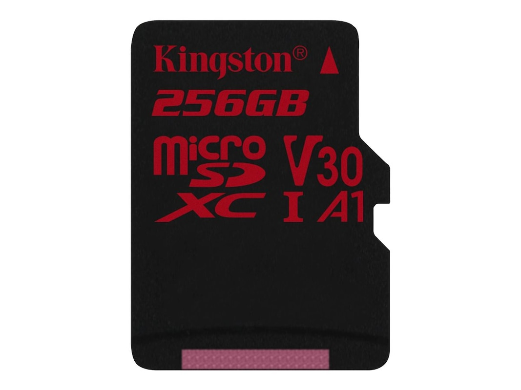 Kingston 256GB Canvas React MicroSDXC UHS-I Flash Memory Card with SD  Adapter, Class 10