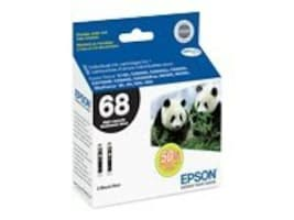 Epson Black High-Capacity Ink Cartridges for Stylus CX5000, CX6000 & CX7000F Printers (Dual Pack), T068120-D2, 10061966, Ink Cartridges & Ink Refill Kits - OEM