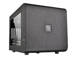 Thermaltake Chassis, Core V21 Micro Mini-ITX 3x3.5 Bays 5xSlots Window No PSU, Black, CA-1D5-00S1WN-00, 18489511, Cases - Systems/Servers