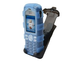 Zcover Silicone Dock in Case for Cisco 7925 w  Holster & Belt Clip, Blue, CI925BJL, 19249236, Carrying Cases - Phones/PDAs