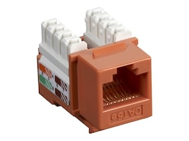 Black Box Connect CAT5e RJ-45 Keystone Jack, Orange, CAT5EJ-OR, 33000488, Cable Accessories