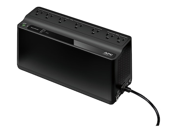 APC Back-UPS 600VA 330W 120V, 5-15P Right-angle Input Plug, (7) 5-15R Outlets, BE600M1, 32142388, Battery Backup/UPS