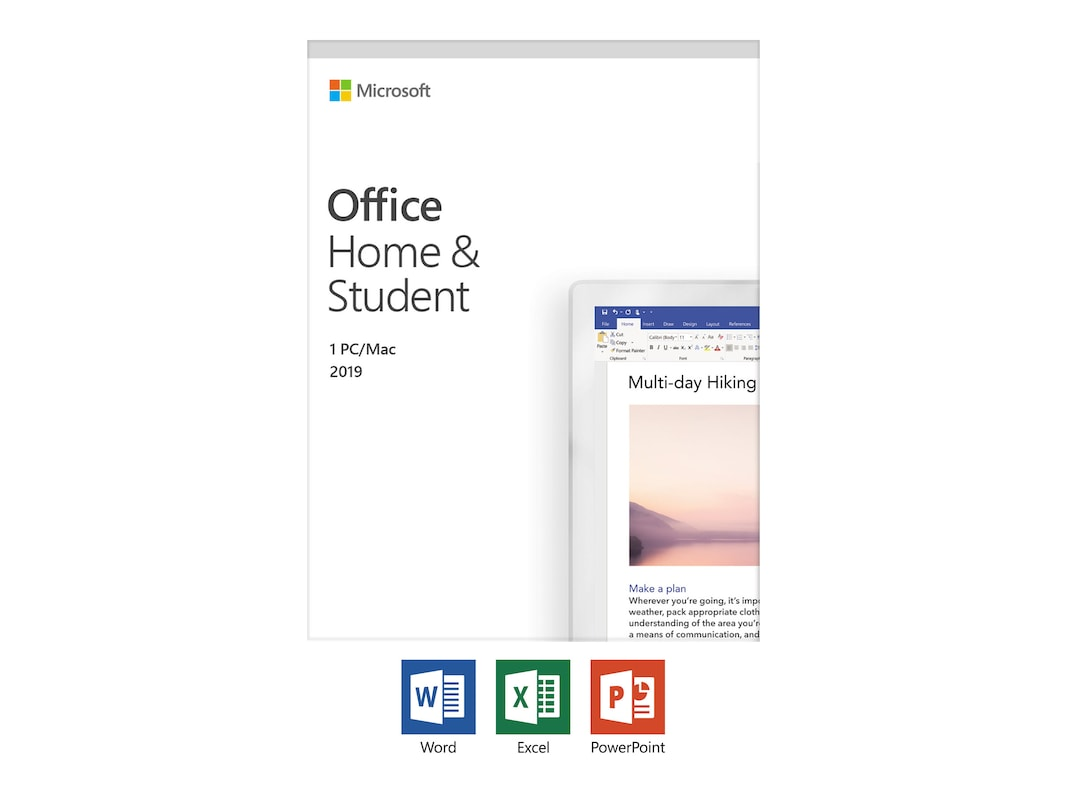 Microsoft Office Home and Student 2019 English Medialess Only