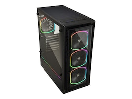 Enermax Chassis, StarryFort SF30 Gaming Tower Case 2x2.5 3.5 bays 3x2.5 bays 7xExpansion slots, ECA-SF30-M1BB-ARGB, 36761792, Cases - Systems/Servers