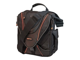 Mobile Edge 13.3 Mini Messenger, Black w  Orange Trim, MEMMS0, 35401728, Carrying Cases - Notebook