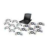 IOGEAR 19 LCD 16-Port KVM Kit, USB, GCL1916KITU, 22073606, KVM Displays & Accessories