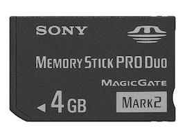Sony 4GB MemoryStick Pro Duo Mark 2, MSMT4G/TQMN, 15409263, Memory - Flash