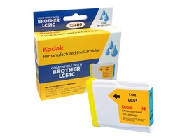 Kodak LC51C Cyan Ink Cartridge for Brother DCP, LC51C-KD, 31397910, Ink Cartridges & Ink Refill Kits - Third Party
