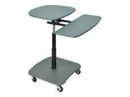 AmpliVox Hydraulic Adjustable Multimedia Cart with Teak Shelves, SN3390, 31986212, Furniture - Miscellaneous