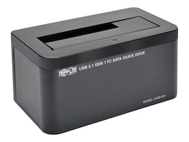 Tripp Lite USB 3.1 Gen 1 to SATA Hard Drive Quick Dock for 2.5 & 3.5 Hard Drive & Solid State Drive, U439-001, 30955271, Hard Drive Enclosures - Single
