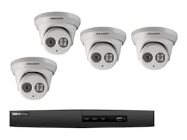 Hikvision 4-Channel 5MP NVR with 1TB HDD and (4) 4MP Outdoor Turret Cameras, I7604N1TP, 34784544, Video Capture Hardware