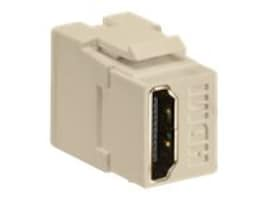 Leviton HDMI Feedthrough QuickPort Connector, Ivory Housing, 40834-I, 17651310, Cable Accessories