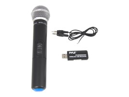 Pyle Wireless Mic & USB Receiver Handheld Dynamic UHF Mic System, PUSBMIC50, 33115138, Microphones & Accessories